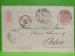 Luxembourg, Entier Postaux, Oblitéré Vianden Et Arlon 1899 - Entiers Postaux