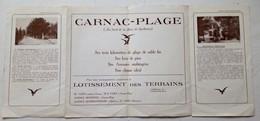 CARNAC DEPLIANT TOURISTIQUE BAIE QUIBERON - Carnac