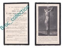 Choisy-le-Roi, Mémento De L'abbé Joseph-Augustin Fillieux, 19/05/1887, 67 Ans, Curé, Souvenir Mortuaire, Décès, Deuil - Imágenes Religiosas