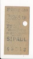 Ticket De Métro De Paris ( Métropolitain ) 2me Classe  ( Station ) ( Saint ) ST PAUL - Métro