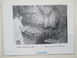 SAINT NAZAIRE -  Chantier Naval - Découpe De Tôle Pour Navire  -  Coupure De Presse De 1959 - Bateaux