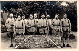 Cpa Carte Photo Soldats 39ème RAC,classe 1920. - Krieg, Militär