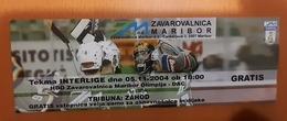 Used Ticket Ice Hockey Club HDD Zavarovalnica Maribor  Olimpija : DAC  Interliga 5.11.2004 - Tickets & Toegangskaarten