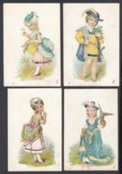 Chromo:  Mode Femmes - Robes Et Chapeaux. Lot De 4 Chromos............ (VG) DC6846 - Trade Cards