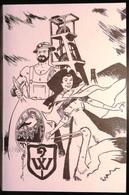 FRANCE Carte Postale Dessin Illustration BOURASS Chevalet Mine De Potasse Cigogne Alsace [GR] - Andere Illustrators
