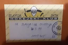Used Ticket Ice Hockey Club HK Slavija Jata : HK Olimpija 20.3.1999  Slovenia League - Tickets & Toegangskaarten