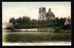 Scherpenheuvel - Montaigu - Met Sterstempel Avec Cachet étoile Testelt  Nr 5 L'église Vue De Côté - Zijde Kant Kerk - Scherpenheuvel-Zichem
