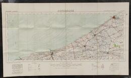 Carte Topographique Militaire UK War Office 1917 World War 1 WW1 Dunkerque Oostende Nieuwpoort De Panne Veurne Diksmuide - Topographical Maps