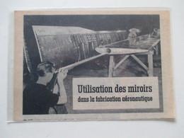 France Fabrication Aéronautique - Utilisation Des Miroirs  -   Coupure De Presse De 1950 - GPS/Aviación