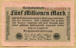 Allemagne 5 Millionen Mark 1923 - [ 3] 1918-1933 : République De Weimar