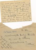 Enveloppe + Lettre 14 Mars 1916 Franchise Militaire Capitaine 6è Du 100 Trésor Et Postes 48 - Postmark Collection (Covers)