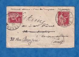 Enveloppe Ancienne - 1937 - Cachet Au Verso Voie Inconnue à L'appel Des Facteurs De BOULOGNE BILLANCOURT - Facteur Poste - France