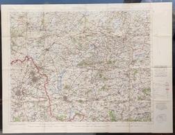 Carte Topographique Militaire UK War Office 1917 World War 1 WW1 Tournai Roubaix Lille Roeselare Kortrijk Deinze Tielt - Cartes Topographiques