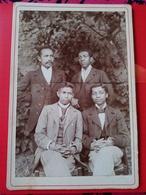 RARE CDV Format CABINET - Groupe D'Hommes De Couleur / Mulâtres - Amérique ? Madagascar ? Antilles ? - Dos Muet - BE - Foto