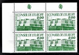 FRANCE 1985 / 1986 -  BLOC DE 4 TP  / Y.T. N° 96 - NEUFS** COIN DE FEUILLE - Service