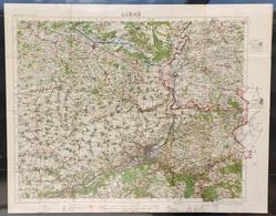Carte Topographique Militaire UK War Office 1919 World War 1 WW1 Liege Verviers Hageland Diest Huy Maastricht Tongeren - Cartes Topographiques