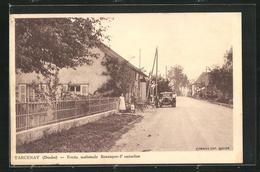 CPA Tarcenay, Route Nationale Besancon-Pontarlier - Pontarlier