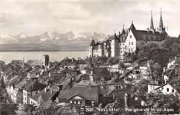 NEUCHÂTEL - Vue Générale Et Les Alpes - NE Neuchâtel
