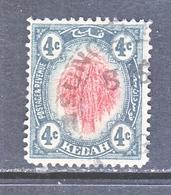 KEDAH   6   (o)   Wmk. 3 - Kedah