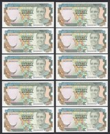 Sambia - Zambia 10 Stück á 20 Kwacha 1989-91 UNC (1) Pick 32b    (89012 - Banknoten