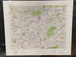 Carte Topographique Militaire UK War Office 1916 World War 1 WW1 Valenciennes Cambrai Mons Douai Avesnes Bavay - Cartes Topographiques