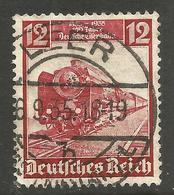 GERMANY. 12pf TRAIN USED LEER POSTMARK - Other