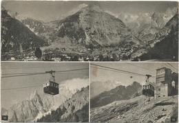 V4062 Courmayeur (Aosta) - Funivia - Panorama Vedute Multipla / Viaggiata 1952 - Italia