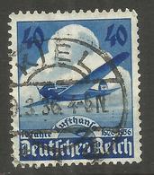 GERMANY. 40pf AIRPLANE USED KIEL POSTMARK - Other
