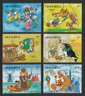 ANGUILLA 1984 Walt Disney/Christmas Around The World: Part-Set Of 6 Stamps UM/MNH - Anguilla (1968-...)