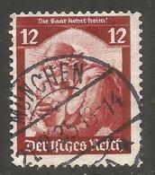 GERMANY. 12pf SAAR USED MUNCHEN POSTMARK - Other