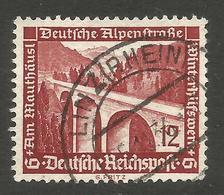GERMANY. 12pf ALPENSTRASSE USED LINZ RHEIN POSTMARK - Other