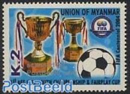 Myanmar/birma 2004 FIFA Centenary 1v, (Mint NH), Sport - Football - Myanmar (Burma 1948-...)