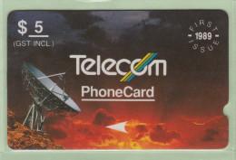 New Zealand - 1989 First Satellites $5 - Deep Notch - NZ-G-7a - Extra Fine Used - Neuseeland