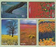 New Zealand - 1997 Fields Of Flowers Set (5) - NZ-I-31/35 - Mint - Neuseeland
