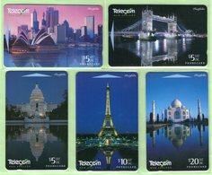 New Zealand - 1996 World Landmarks Set (5) - NZ-I-4/8 - Mint - Neuseeland