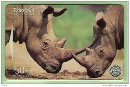 New Zealand - 1996 Endangered Species - $50 White Rhinos - NZ-D-78 - Mint - Neuseeland