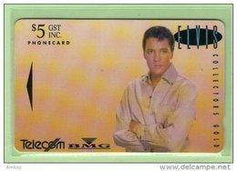 """New Zealand - 1993 Music Legends $5 Elvis Presley """"Gold"""" - NZ-D-8 - Mint - New Zealand"""