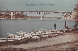 1934 - Port Et Pont De ST-JUST-sur-LOIRE - Francia