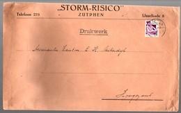'waar Voor Je Geld (6cts)' Storm-Risico Zutphen > Hoogezand, Zeer Grote Envelop (LA32-102) - Lettres & Documents