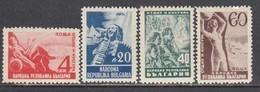 Bulgaria 1948 - Repos Et Culture, YT 571/74, Neufs** - Unused Stamps
