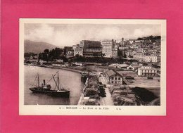 ALGERIE, BOUGIE, Le Port Et La Ville, Animée, Bateaux, (L. L.) - Algérie