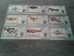 Turkey - 9 Nice Phonecards With Planes N4 - Turquie