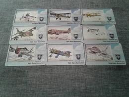Turkey - 9 Nice Phonecards With Planes N5 - Turquie
