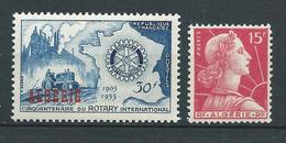 ALGERIE 1955 . N°s 328 Et 329 . Neufs ** (MNH) . - Neufs