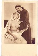 S. FRANCESCO D'ASSISI CURA UN LEBROSO  1953 POST CARD ESPOSIZIONE FILATELICA ROMA  (FEB20747) - Esposizioni Filateliche