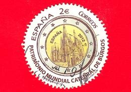 SPAGNA - Usato - 2012 - Cattedrale Di Burgos - Patrimonio Mondiale Dell'Umanità - Tondo - 2 - 1931-Oggi: 2. Rep. - ... Juan Carlos I