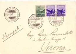 MACERATA MOSTRA FILATELICA 1947 FOGLIETTO  (FEB20753) - Esposizioni Filateliche