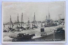Harbour Scene, Oranjestad, Aruba N. A. 1953, Real Photo Postcard (RPPC) - Aruba