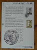 Document Officiel FDC 14-505 Archéologie Romaine Roman Archaeology Buste De Cesar Arles 13 Bouches Du Rhone 2014 - Archéologie