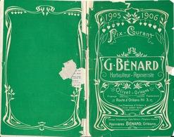 Catalogue Horticulteur, Pépiniériste G. Bénard, Olivet Orléans 1905-1906 - Agriculture